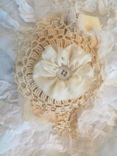 Lace encrusted gift tags by tatteredlaces on Etsy