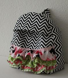 toddler backpack with ruffles $28 by Marine Parents {the shop}// one of my fave things ever!