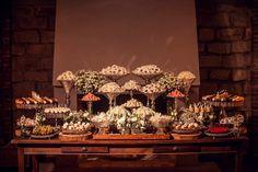 Mesa de doces - Casamento rústico
