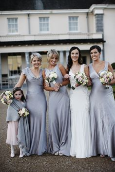 Image by Brett Harkness. - A Wintery Black Tie Wedding At Castlemartyr In Ireland With An Amnesia Rose Bouquet And Ghost Bridesmaid Dresses And A Nicole Miller Wedding Dress With Photography By Brett Harkness.