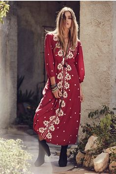 Free People Embroidered Fable Dress at Free People Clothing Boutique