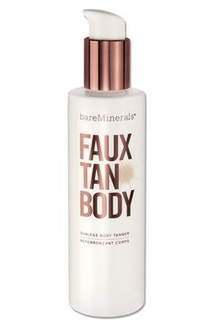 I want to try this.  bareMinerals® 'Faux Tan' Sunless Tanner for Body available at #Nordstrom