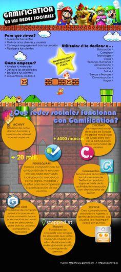 Infografía #Gamification en las Redes Sociales  #SocialMedia crear juegos para publicitar! que piensan? @Woonki