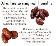 Dates: A natural weight loss food. Fat free and cholesterol free containing Vitamin A, B1, B2, B3 and C.