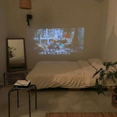 i want a projector in my room 😱😱 Dream Rooms, Dream Bedroom, Home Bedroom, Bedroom Decor, Bedrooms, Aesthetic Room Decor, Cozy Aesthetic, Home And Deco, Bedroom Inspo