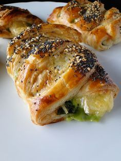 Spinach and brie puff pastries.