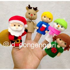Santa Claus Is Coming To Town finger puppets. Check my instagram @id_dongengjari