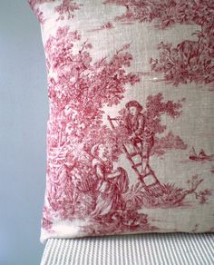 Red and white Toile de Jouy - always so fresh and appealing