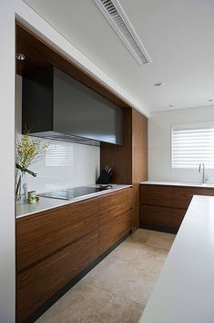 Fantastic White And Wood Kitchen Design Of Small Apartment In Sydney listed in: white apartment kitchen, small Kitchen Design and best White. Small Apartment Design, Small Apartments, Studio Apartments, Hidden Kitchen, Kitchen Small, Kitchen Time, Apartment Kitchen, Apartment Ideas, White Apartment