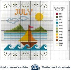 ...E per salutare luglio,  ecco lo schema free DMC