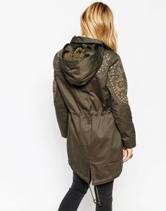 Image 2 of ASOS Embellished Parka