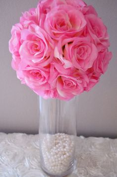 This would be cool with a light under the pearls since it will be dark out Hey, I found this really awesome Etsy listing at https://www.etsy.com/listing/203429180/elegant-wedding-pink-wedding-centerpiece