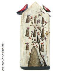 ptaszki na kamienicy- pracownia na deskach