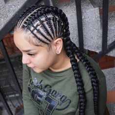Image may contain: 1 person, close-up - - - Box Braids Hairstyles, Black Girl Braided Hairstyles, African Hairstyles, Girl Hairstyles, Quick Hairstyles, Unique Braids, Crop Hair, Natural Hair Styles, Long Hair Styles