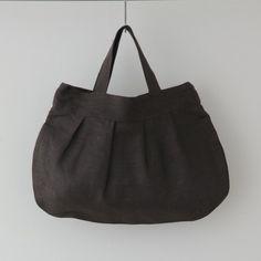 Crick & Watson - Dark Brown Anne Round Bag Fog Linen, Linen Bag, Round Bag, Dark Brown, Totes, Bags, Shopping, Fashion, Handbags