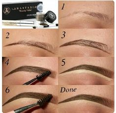 how to get the perfect eyebrows! just make sure you get products that are either the same shade as your hair!