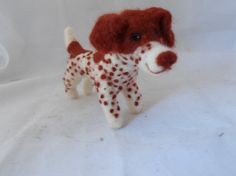 Custom german shorthaired pointer sculpture- needle felted commisioned dog  soft sculpture. - GSP -  small size
