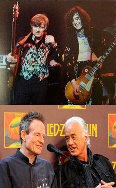 John Paul Jones & Jimmy Page. Led Zeppelin