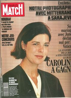 # Paris match N°2250 Caroline de Monaco  Marriage with Philippe Junot annulled by Vatican