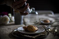 Vanilla madeleines with black salt