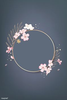 Round cherry blossom frame vector premium image by rawpixel com wan cherry blossom watercolor clip art spring flowerflowers clip etsy Flower Background Wallpaper, Framed Wallpaper, Flower Backgrounds, Background Vintage, Background Patterns, Wallpaper Backgrounds, Cherry Blossom Background, Pretty Backgrounds, Summer Backgrounds