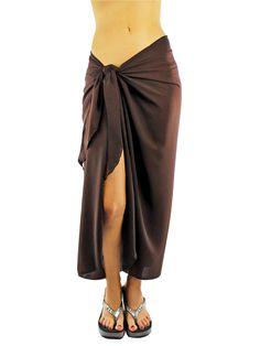 930f5043609c Long Sheer Sarong Cover Up Wrap for Women - Walmart.com. Beach Cover UpsSwim  ...