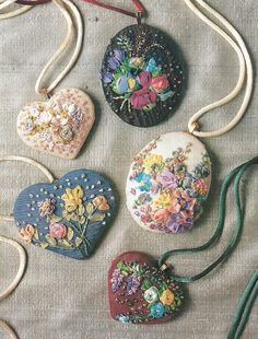 An Encyclopedia of Ribbon Embroidery Flowers: 121 Designs (American School of Needlework, No. Silk Ribbon Embroidery, Embroidery Jewelry, Embroidery Thread, Embroidery Patterns, Eyebrow Embroidery, Embroidery Blanks, Embroidery Supplies, Ribbon Art, Ribbon Crafts
