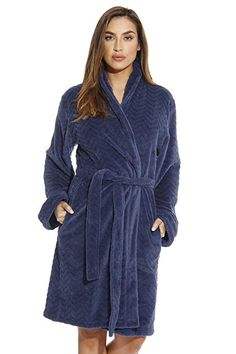 59fb527f7d Just Love Kimono Robe Velour Chevron Texture Bath Robes for Women