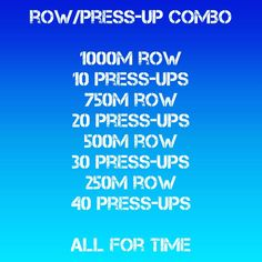 Try this great conditioning workout, you can swap out the row for any cv mode just double the distance for cycling 🙌😉 Make sure you get a good warm, then go for it! Pace it out if need be, or go all in 💪👍 Keep your movement quality up there and your press-ups deep 🙃🙂😉 #row #rowing #erg #concept2inc #pressups #strong #fit #conditioning #circuit #hiit #concept2uk #workout #training #trainingday #hwpo #onlinepersonaltraining #onlinepersonaltrainer #staystrong #staysafe #stayhealthy #getc Online Personal Training, Conditioning Workouts, Training Day, Rowing, Hiit, How To Stay Healthy, Circuit, The Row, Distance