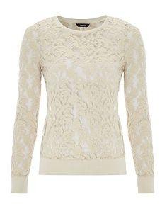 .: Lace Sweater - Cream :.