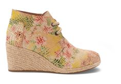 Tropical TOMS+ Tropical Serpentine Women's Desert Wedges #Toms Give Back To School Contest