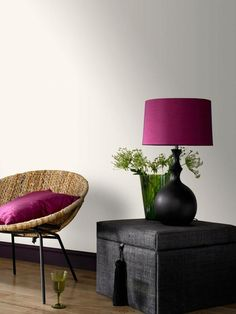 Fuchsia pink, rattan and black interior decor inspiration home decor #affiliate