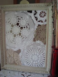 Use for old doilies. Use for hanging earrings