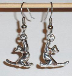 Ohrringe Katze Damen Ohrschmuck Modeschmuck ohne Stein Metalllegierung