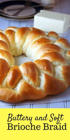 This Grand Brioche Braid is buttery and soft. It is the perfect dough recipe for the bread lover. This Grand Brioche Braid is buttery and soft. It is the perfect dough recipe for the bread lover. Artisan Bread Recipes, Bread Machine Recipes, Easy Bread Recipes, Baking Recipes, Soft Bread Recipe, Challah Bread Recipes, Brioche Bread Machine Recipe, Brioche Rolls, Food Recipes