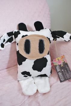 little moo cow softie doll sensory toy by DunlapLove on Etsy