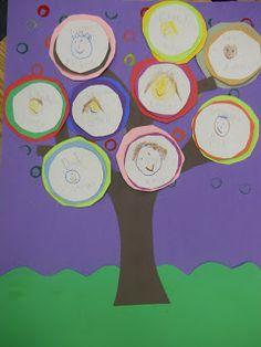 Mrs. T's First Grade Class: Kandinsky Style Family Trees