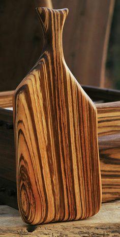 Serving Board Zebra Wood