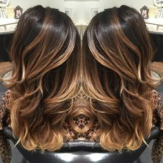 Balayage dark balayage Carmel balayage highlights hair beauty layers