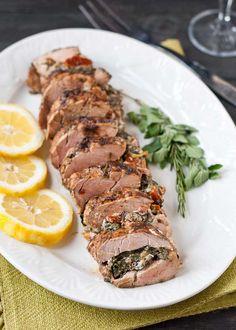 Mediterranean Stuffed Pork Loin