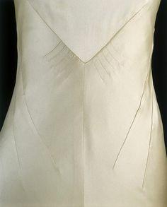 Dart detail on the back of 1930's dress