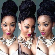 Box Braids Hairstyles, Funky Hairstyles, Feathered Hairstyles, Fringe Hairstyles, Hairdos, Glamorous Hairstyles, Updos Hairstyle, Brunette Hairstyles, Hairstyles 2018