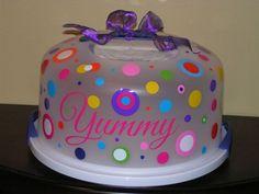 Yummy. cake carrier vinyl