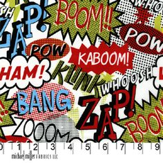 FQ - ZAP - COMIC BOOK RETRO CARTOON MICHAEL MILLER COTTON FABRIC | eBay
