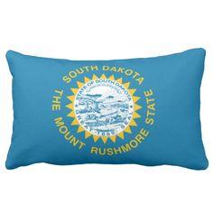 State Flag Of #SouthDakota Pillows