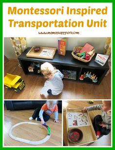 Enjoy 14 tot trays for a Montessori inspired transportation unit. - www.mamashappyhive.com