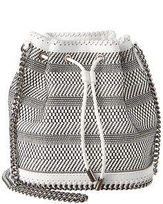 Stella McCartney Woven Small Bucket Bag