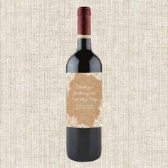 Rustic Wedding Lace  Wine Bottle Labels