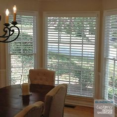 customer showcase 2 12 premium wood blind in dinning room color