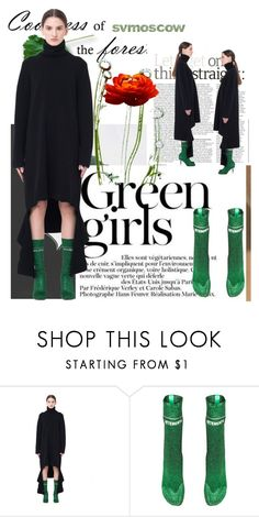 """svmoscow"" by k-lole ❤ liked on Polyvore featuring Green Girls and Balenciaga"